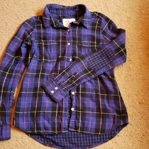 Lined lightweight button up w/elbow patch szL